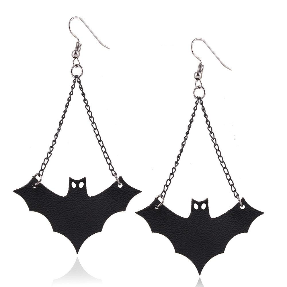 New Design Personalized Cute Bats Stud Earrings Women Halloween Jewelry Accessories Creative Strange Halloween Bat Earrings ...