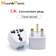 Multifungsi Uni Eropa US AU untuk UK Colokan Adaptor Power Converter Colokan 2 Pin Soket Uni Eropa Ke Inggris Travel Charger Adapter converter(China)