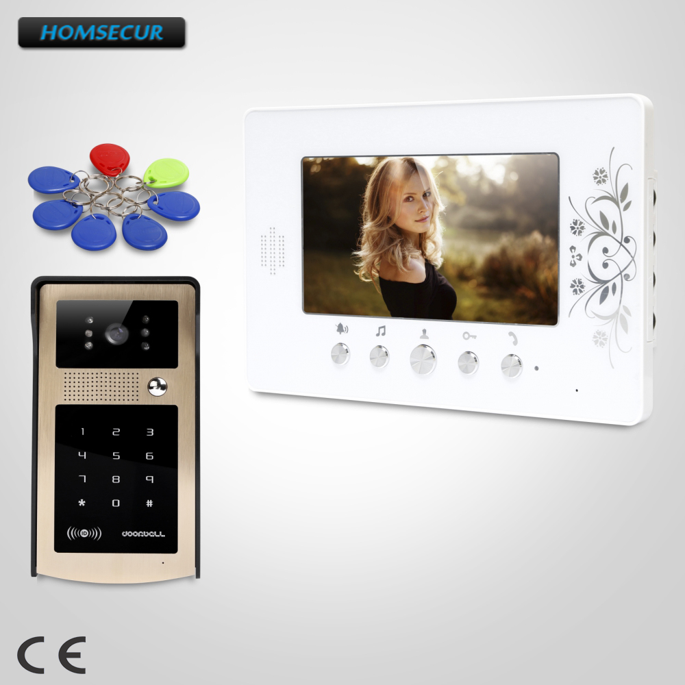 HOMSECUR 7 Video Door Entry Phone Call System with Keyfobs Password Keypad for Apartment  XC004-G+XM709HOMSECUR 7 Video Door Entry Phone Call System with Keyfobs Password Keypad for Apartment  XC004-G+XM709
