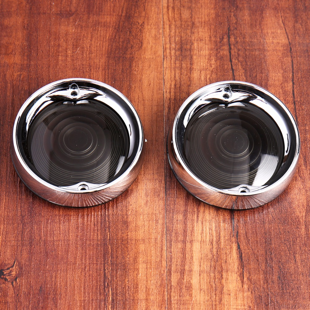 2x Turn Signal Clear Lens For Harley Touring Electra Street Tri Glide Road King