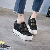 Fashion summer Breathable Ladies Thick Sole Trainers wedges Women mesh High Platform Shoes Height increasing Sneakers MC 11