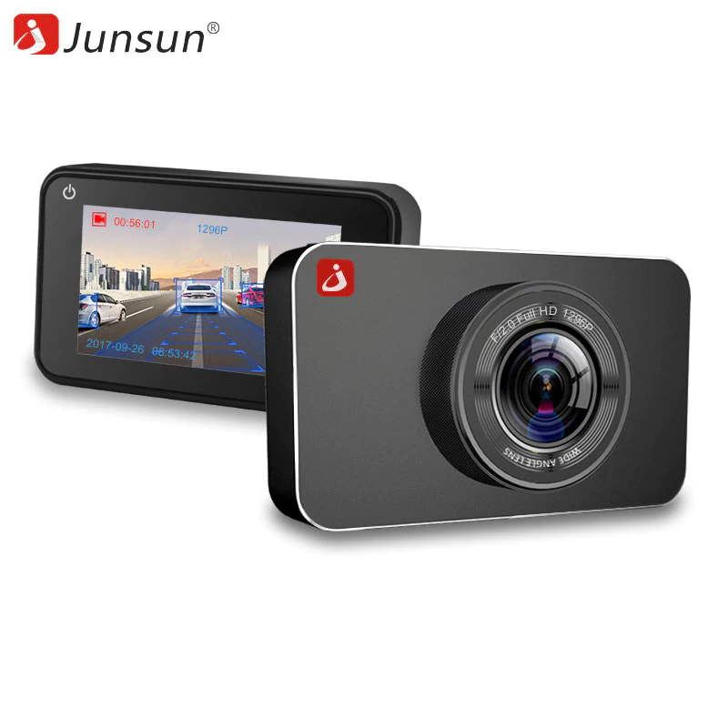 Dash camera Junsun H9P Car DVR 16GB View angle 170 Degree Display Size 3 Motion Detection byncg lens for gopro hero 5 sports camera go pro accessories can replace the 170 degree wide angle lens stand black edition