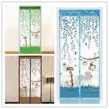 Urijk 1 Unid 3 Colores 90/100×210 cm Bienes No Perecederos Summer Style Mesh Prevent Mosquito Net en el Imanes de las puertas de Cocina Cortinas de la Ventana