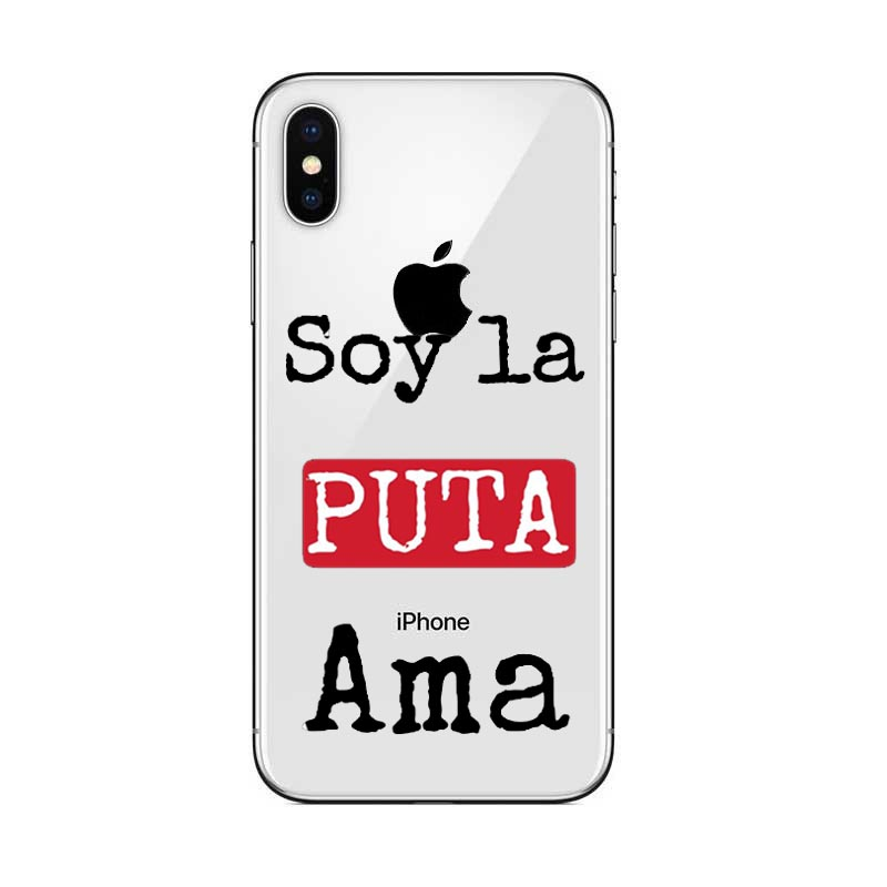 Phone Cases Spain TV La Casa de papel Case For iPhone 11Pro MAX Fundas For iPhone 5 5S SE 6 6S 7 8 Plus Cool Cartoon Back Cover in Half wrapped Cases from Cellphones Telecommunications