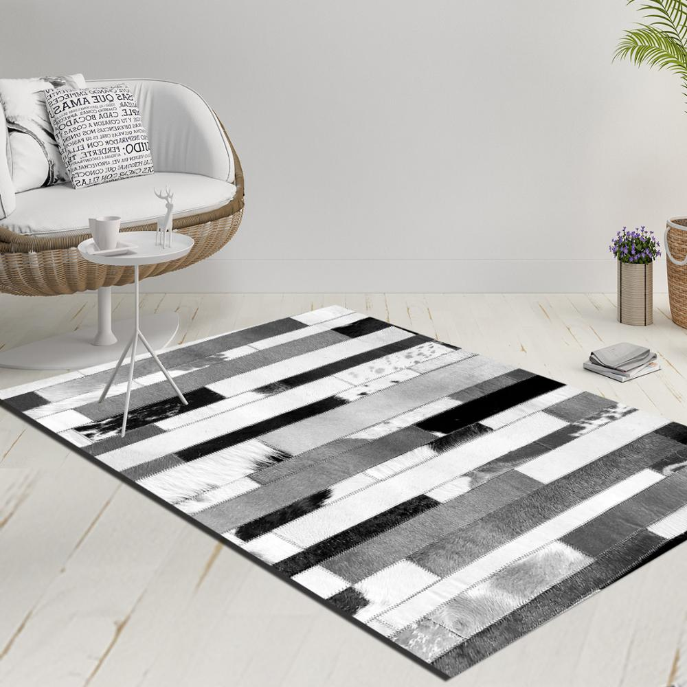 Else Gray Black White Vintage Stripes Lines Decorative 3d Print Anti Slip Kilim Washable Decorative Kilim Rug Modern Carpet
