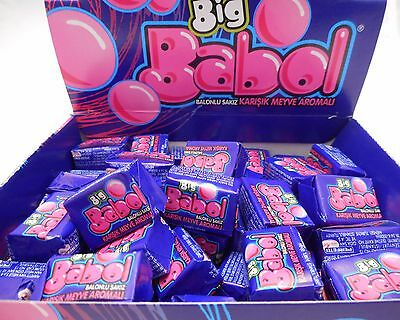 BIG BABOL REAL BIG BUBBLE CHEWING GUM Mixed Fruit VALENTINE GIFT PERFECT 100