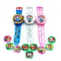 2018 anime periférico yo-kai relógio dx yokai relógio crianças brinquedo com 3 medalhas & música brinquedos educativos melhores presentes