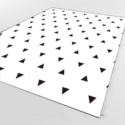 Else White Floor Black Triangle Geometric 3d Print Non Slip Microfiber Living Room Decorative Modern Washable Area Rug Mat
