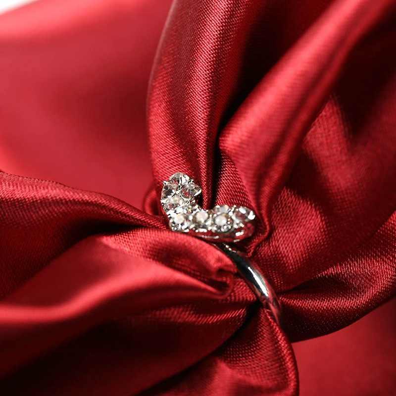 W nowym stylu mody błyszczące miłość serce Rhinestone regulowany pierścień biżuteria dla kobiet w sprzedaży hurtowej 2018 hurtownie