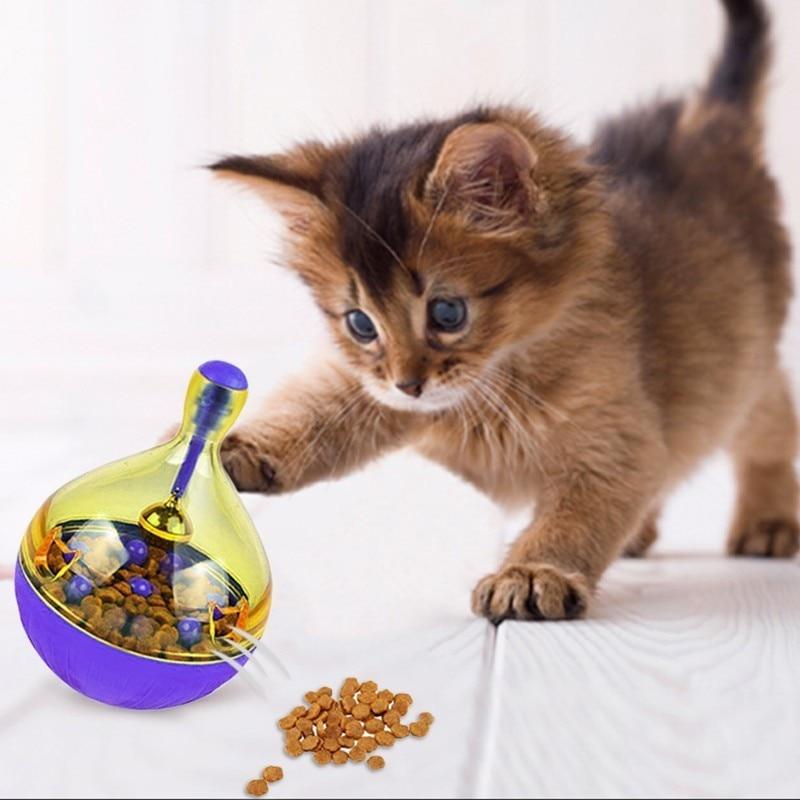 Pet Dog Fun Bowl Feeder Cat Feeding Toys Pets Tumbler Leakage Food Ball Pet Training Exercise Fun Bowl Gamelle  Comedero Gato 15