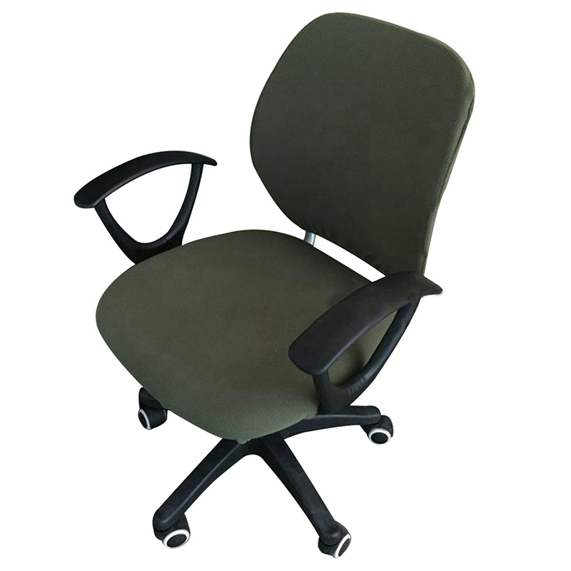 Office Chair Cover Rotating Chair Slipcover Removable Washable Computer Chair Cover Elastic Seat Protector