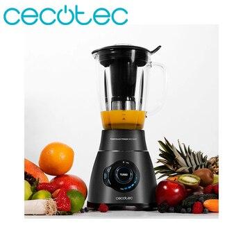 Cecotec アメリカタンブラーブレンダー電源チタン 1800 スマート黒 1800 ワット電力機能 9 速度ピカ氷ブレンダー黒色