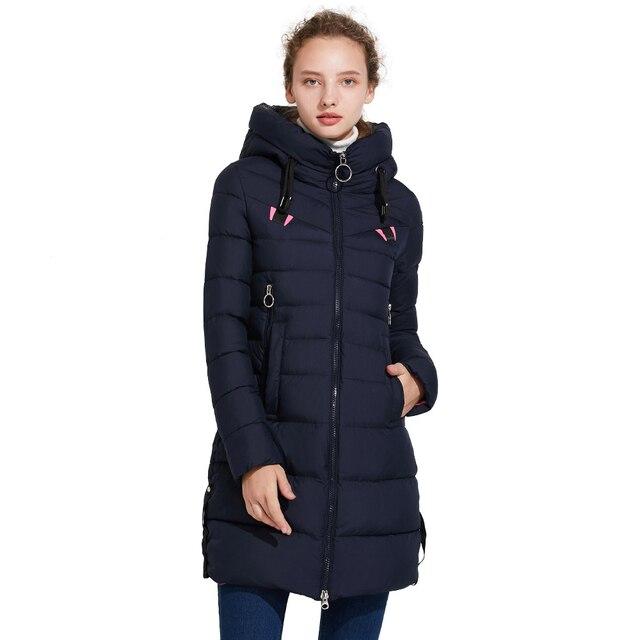 ICEbear 2017 Отличная зимняя женская куртка создаёт стройность 17G6158D
