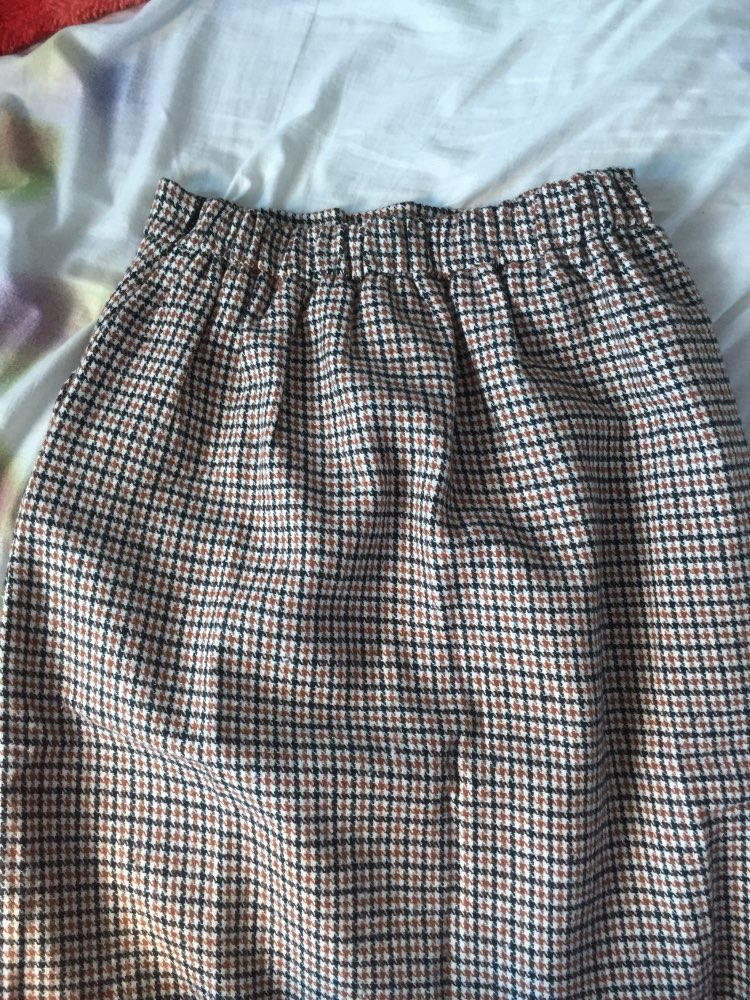 Vestidos  Plaid Vents Long Skirts With Belt Autumn And Winter High Waisted Female Skirt photo review
