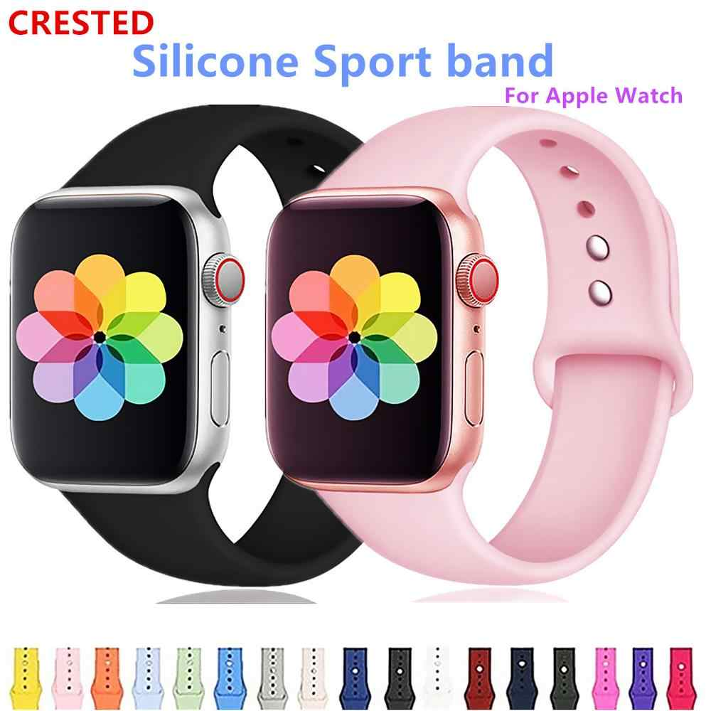 CRESTED רצועת עבור apple watch להקת apple watch 4 3 iwatch להקת 42mm 38mm קוראת 44mm/40mm pulseira צמיד שעון אביזרי 42