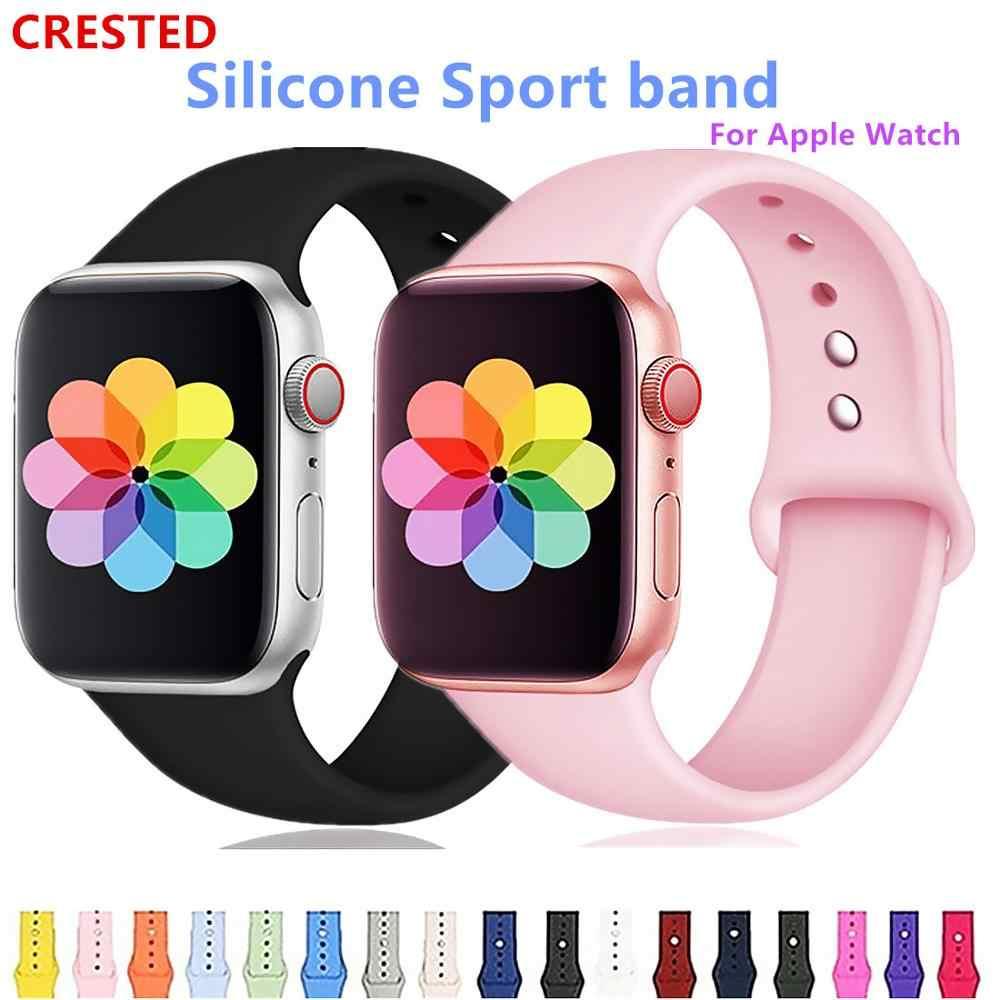 Хохлатый ремешок apple watch band apple watch 4 3 iwatch band 42 мм 38 мм correa 44 мм/40 мм pulseira браслет часы Аксессуары 42