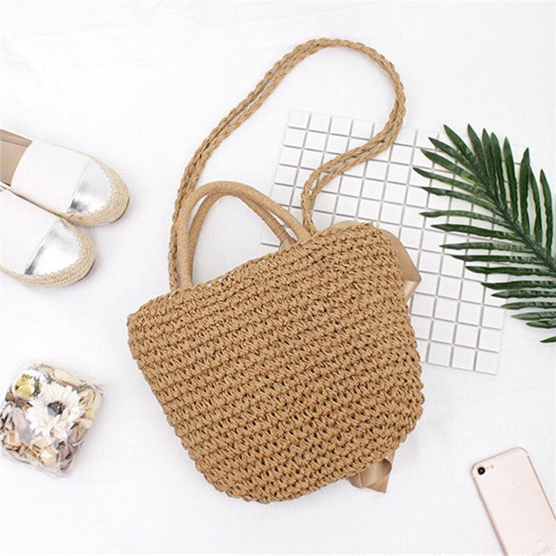 Osmond Ribbon Bowknot Straw Tote 2017 Bohemian Summer Beach Handbag - Պայուսակներ - Լուսանկար 4