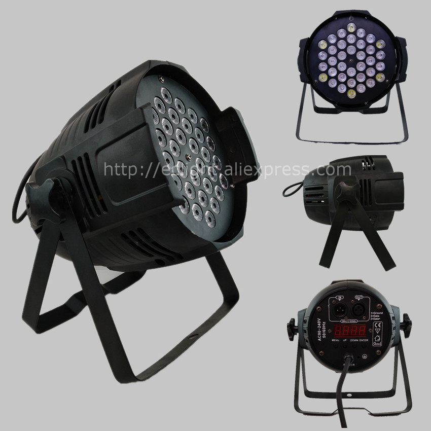 Par 36 led  RGBW 2W Parcan DMX 8CH concert wash Stage Lighting Disco DJ wedding par light 30pcs free shipping led dj lighting par dmx disco stage decoration 18x10w led par dmx rgbw light
