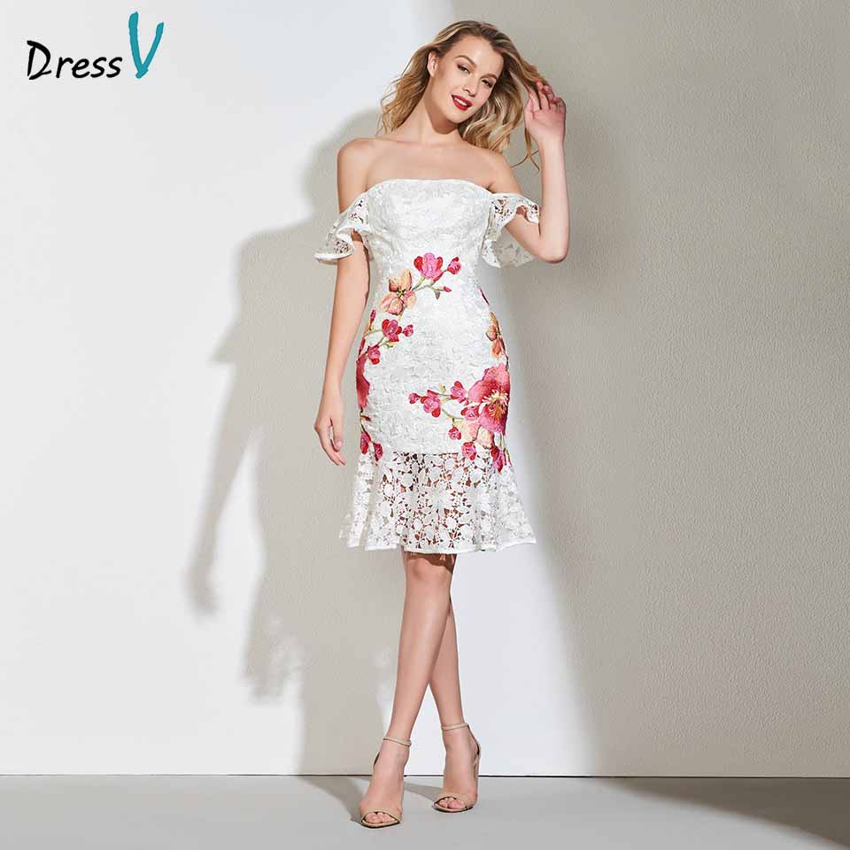 Dressv appliques   cocktail     dress   elegant off the shoulder lace wedding party evening formal   dress   coctail   dresses   cutomade