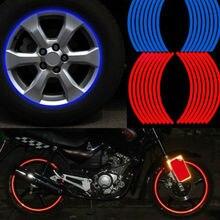 Автомобильный стайлинг, 16 полосок, для велосипеда, автомобиля, мотоцикла, колеса, шины, светоотражающие обода, наклейки и декоративные переводные наклейки, 10 дюймов, 6 цветов