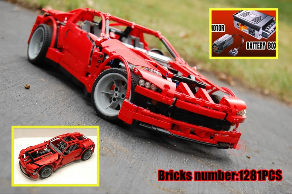 New Bricks Toys DIY kid gifts technic series Super Car fit legoings technic car motor fuction power city Building Blocks 8070