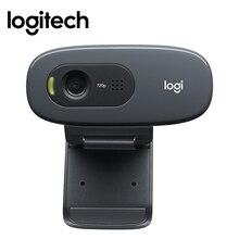 Logitech C270 HD ordinateur webcam intégré Micphone USB2.0 720 pixels Mini ordinateur caméra pour PC ordinateur portable vidéo