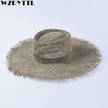 Шляпа Женская плетеная с широкими полями, Соломенная Панама от солнца в стиле унисекс, для походов в Кентукки и путешествий