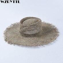 Chapéus de palha unissex chapéu de palha para kentucky derby viagem chapéu de praia de verão chapéu de praia