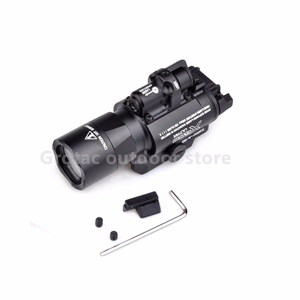 Element SF X400 CREE Ultra High Output LED Pistol M4 Rifle Flashlight Red Dot Laser Combo Sight 20mm Picatinny Rail Mount hunting compact tactical green laser sight flashlight combo low profile pistol handgun light with 20mm picatinny rail