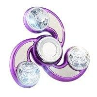 Best Quality Clover Rotation Diamond Fidget Spinner Plastic EDC Hand Spinner Tri-Spinner For Autism Kids/Adult Anti Stress Toys