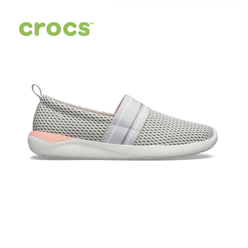 CROCS LiteRide Mesh Slip On W WOMEN for female, women TmallFS mesh patchwork slip on round toe mens shoes