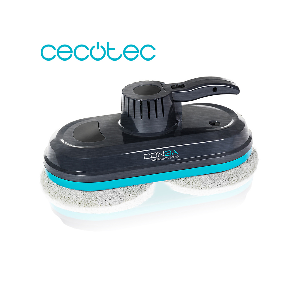 Cecotec Winrobot Smart Window Cleaner Conga 870 AI Calculates The Right Route 3 Automatic Cleaning Programs With Remote Control