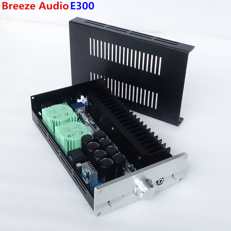 Breeze Audio E300 Class A Headphone Amplifier No Noise At HiFi Stereo earphone Amp With XLR/RCA Refer Electrocompaniet Circuit gustard h10 high current discrete class a hifi stereo headphone amplifier