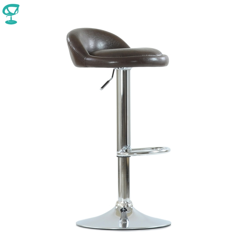 N97CrSPUbrown Barneo N-97 PU Leather Kitchen Breakfast Bar Stool Swivel Bar Chair Brown Color Free Shipping In Russia