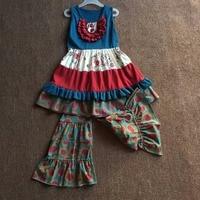 2017 Cotton Noble Elegant Design Baby Girl Clothing Sets Summer Sleeveless Apparel Kids Clothes Infants