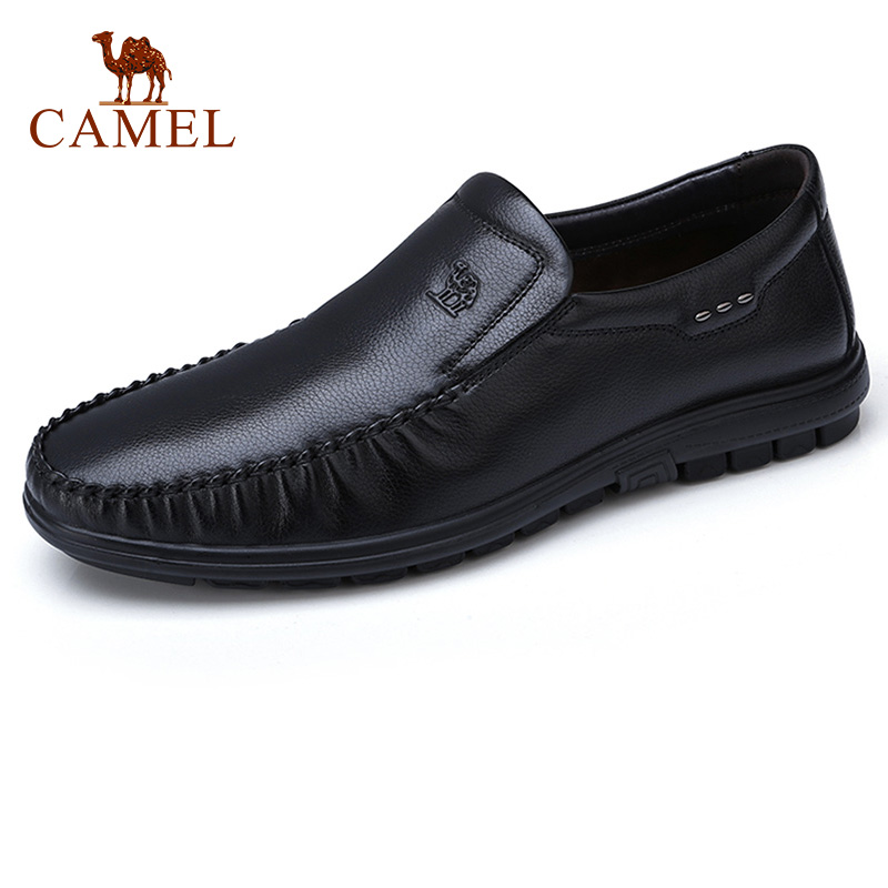 CAMEL Men s Shoes Genuine Leather Business Casual Dad Loafers Stepping Lightly Driving Comfortably Flats Male