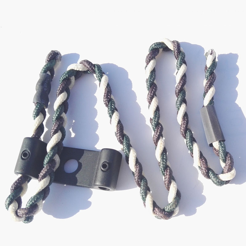 Compound Bow Sling Archery Braided and Metal Compound Paracord Bow Wrist Sling Strap Adjustable Hunting Shooting Accessories