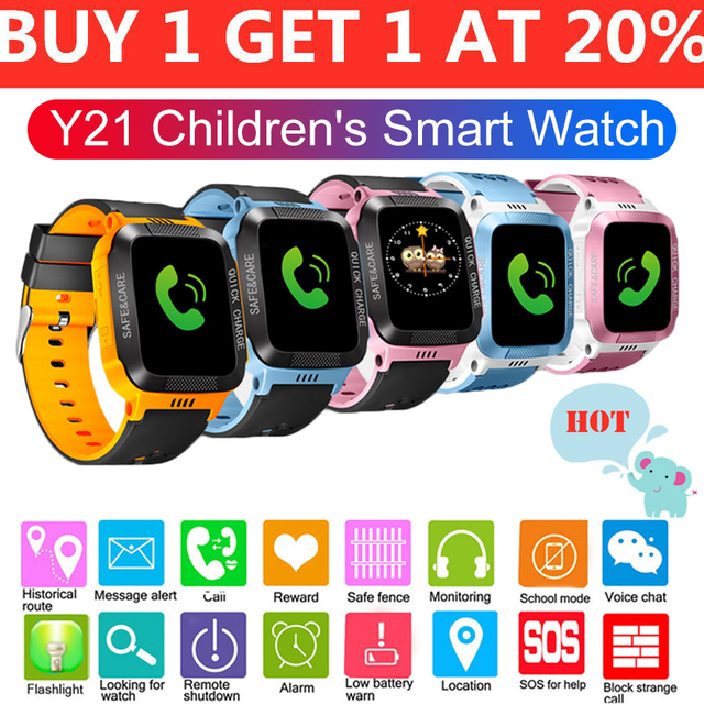 Smart Watch Kids Digital Watch Alarm Positioning SOS Call Track Anti Lost Safety with Remote Monitoring for Children Smartwatch
