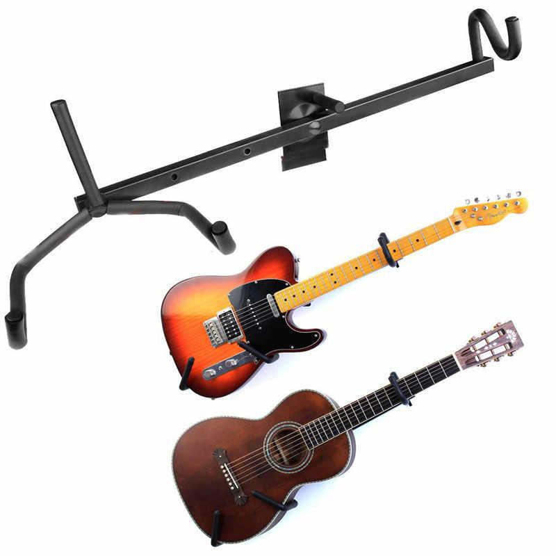 أسود أفقي الغيتار حمالة تعليق جدارية قوس الصوتية باس الغيتار الكهربائي القيثارة حامل الرف هوك