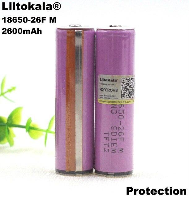 Liitokala Оригинальный 3,7 В 18650 2600AMH ICR18650-26F литиевых Батарея Перезаряжаемые Батарея защиты печатной платы для