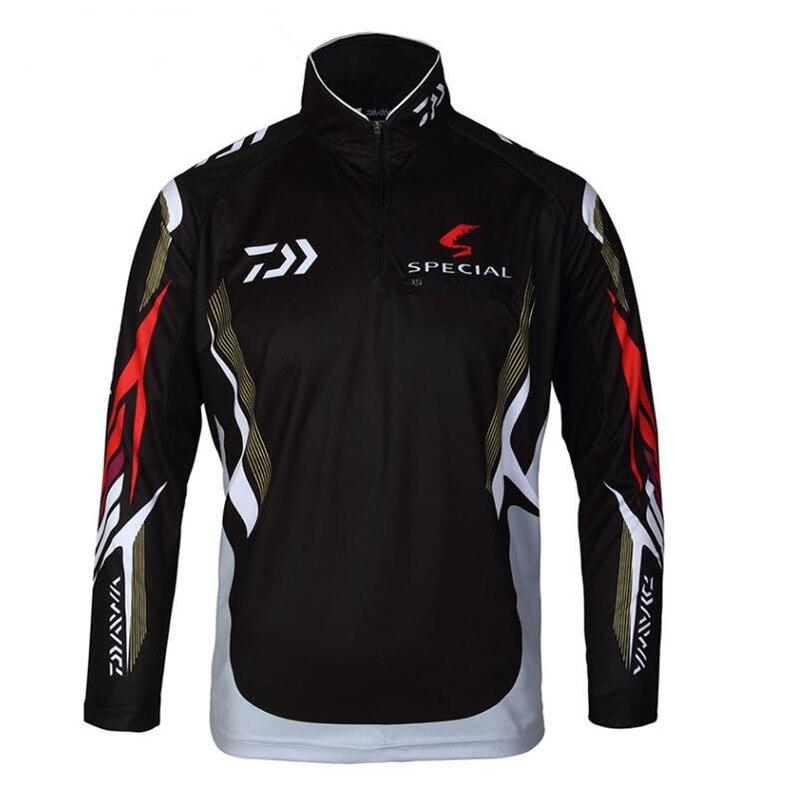 2018 New style Daiwa Fishing Clothing Vests Quick-Drying Anti-UV Daiwa Jacket Sports Clothes Long Sleeve Fishing Clothing AK001