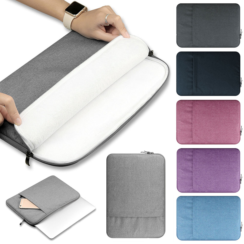 Universal Laptop Bag Sleeve Case For Macbook Air Pro Retina 11 13 15 Inch Canvas+Plush Computer Notebook Sleeve Bag Case For HP