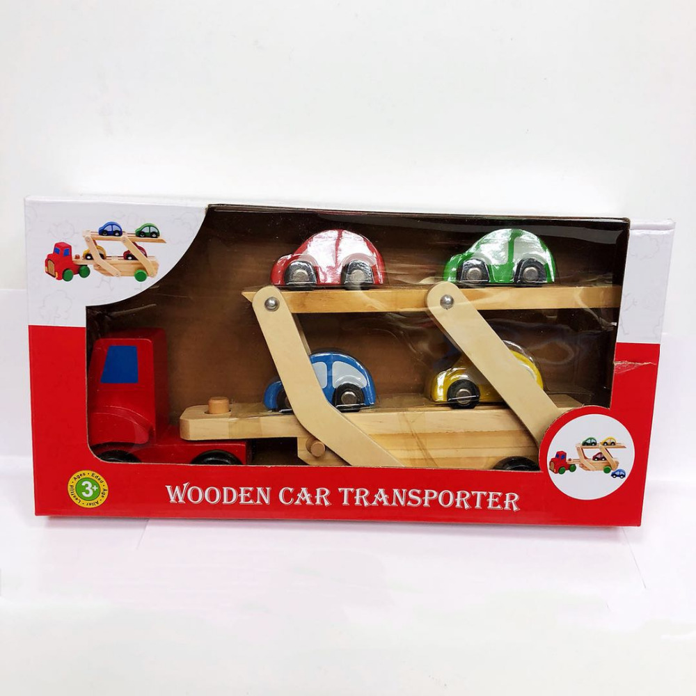 wooden trucks with cars for kid Children's educational toys Chair designer wooden toys gifts for Boys shipping from Russia