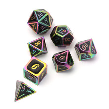 Black Magic Rainbow Metal Dice Set