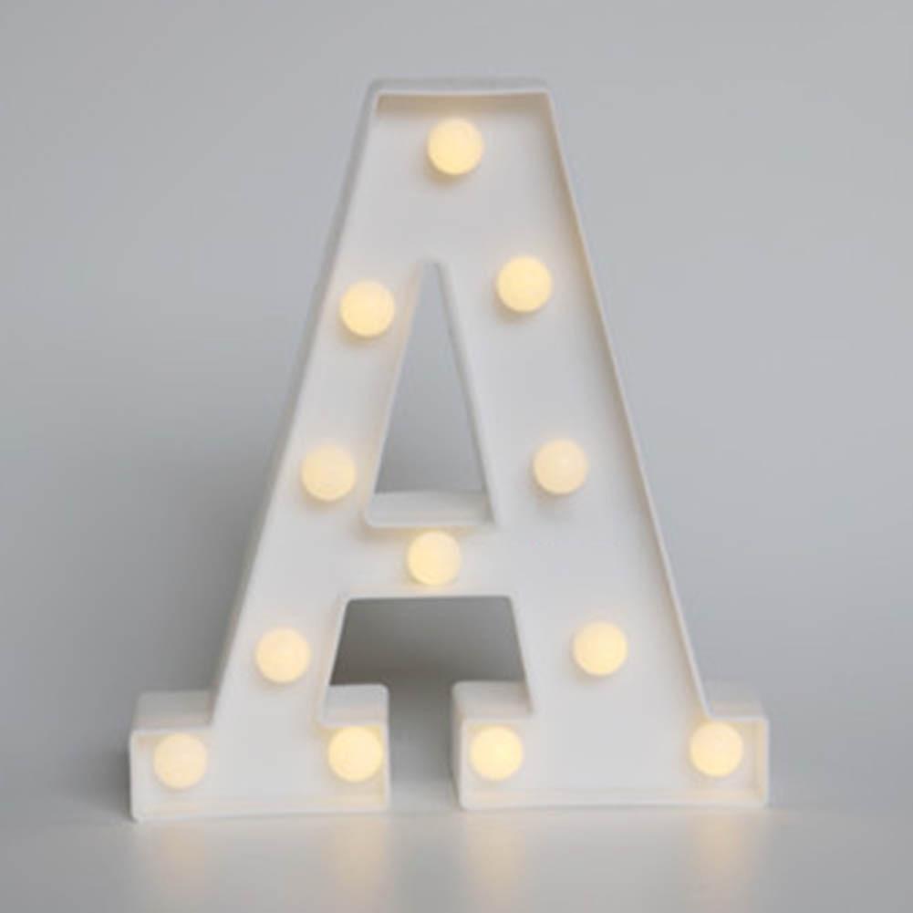 Белые буквы светодиодный знаковое событие Алфавит загорается свет Крытый украшения стены Свадебная вечеринка окна Дисплей свет