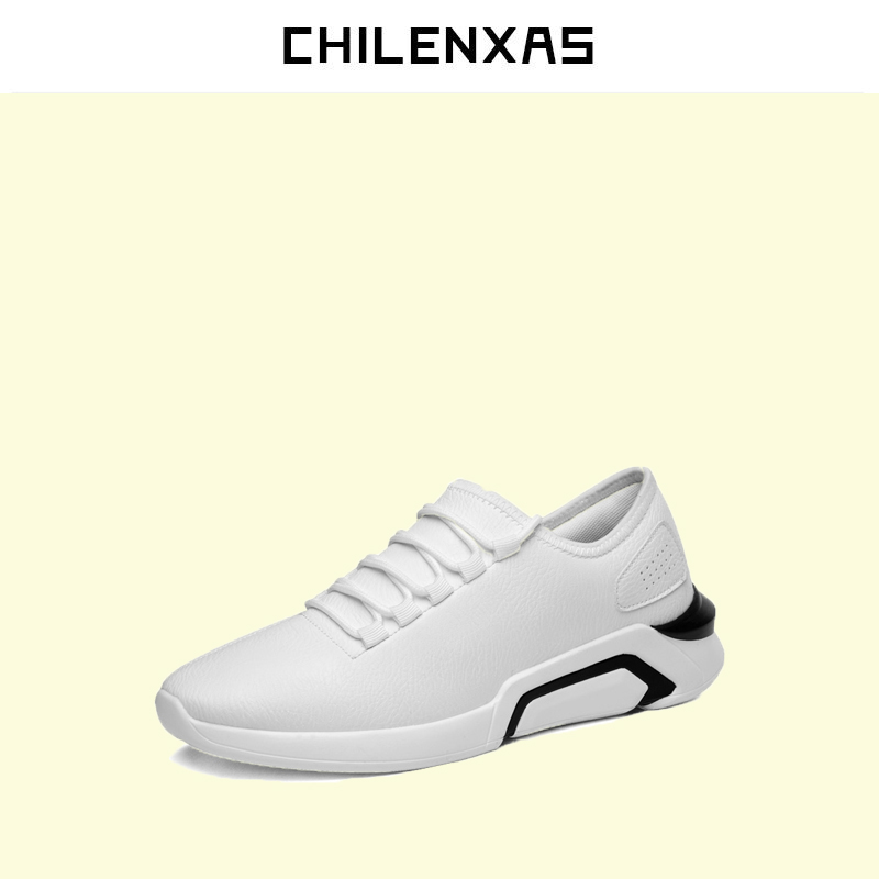 CHILENXAS New Fashion Spring Autumn Leather Men Casual Shoes Breathable Lightweight Comfortable Lace-up Solid Waterproof 2017 spring autumn new men driving shoes fashion breathable leather casual shoes korean version lace up rubber men shoes z180