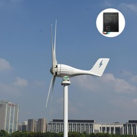 400W500W600W 12V/24V 3 / 5 blades for home residential low start up wind turbine generator kit+ PWM charge controller