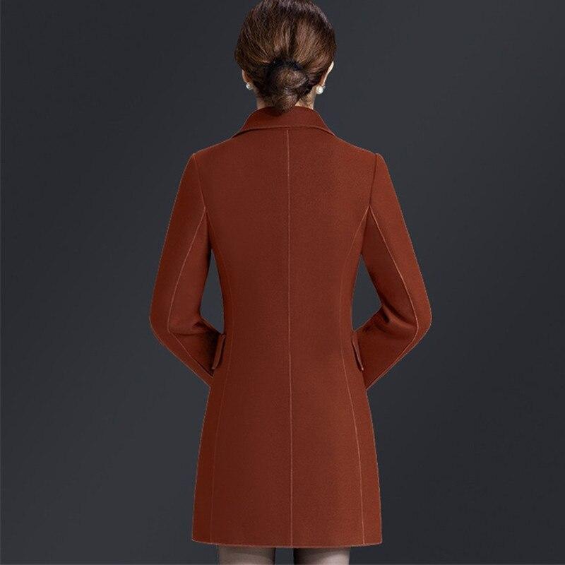 De 1538 Tranchée navy Automne gray Hiver caramel La Mince Wine Moyen Tissu Femelle Femmes red Survêtement Blue Laine Plus Longueur Cots Okxgnz Taille Colour Orange Manteaux qxTrxwI