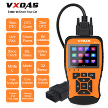 VXDAS Auto/Car Diagnostic Tool Full System Model Coverage Coating Russian Upgraded Code ReaderOBD2 Scanner NT510 12V
