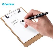 Glosen A5 Writing Board Clip A4 Splint Sketch Pad Plate Wooden Clipboard With